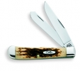 Case 6254CV TRAPPER AMBER BONE - 163