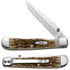 Case 30024 Amber Bone Trapperlock Knife