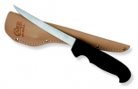 Case 00342 Fillet Knife - 6-inch (BR12-6 SS) with Leather Sheath