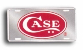 Case RED OVAL LICENSE PLATE - 50006