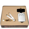 Case 06035 Amber Trapper and Zippo Hand Warmer Set
