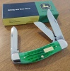 Case John Deere - Bright Green Bone Corn Cob Jig Sowbelly (TB6339 SS) in Gift Tin - 15747