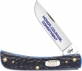 Case U. S. Navy - Standard Jigged Navy Blue Bone Sod Buster Jr. (6137 SS) - 17709