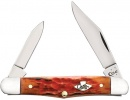 Case Burnt Salmon Bone - Peach Seed Jig Half Whittler (6208 SS) - 27056
