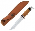 Case 385 Fixed Blade Leather Washer Hunting Knife