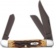Case Antique Bone Stockman (6347 SS) with Black PVD Coated Blades - 49976