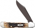 Case Antique Bone Mini CopperLock (61749L SS) with Black PVD Coated Blades - 49977