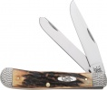 Case WORKED BOLSTER STAG TRAPPER - 53070