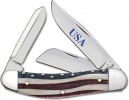 Case Star Spangled - Embellished Smooth Natural Bone Sowbelly (TB6339 SS) - 64134