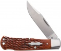 Case Case/Tony Bose Collaberation- Wilfred Lockback Hunter (TB612016 154-CM) Jigged Chestnut Bone - 7416