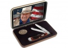 Case John Wayne Gift Set- Barnboard Jig Dark Red Bone Trapper (6254 SS)