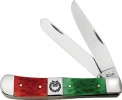 Case DARK RED/ BRIGHT GREEN TRAPPER - 65100