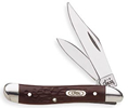 Case 046 Peanut Knife 6220SSBrown Synthetic Handle