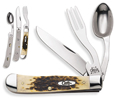 Case Hobo Amber Bone HOBO Knife 00052
