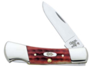 Case Pocket Worn Old Red Bone Small Lockback Knife
