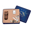 Case Hobo Amber Bone Gift Set with Zippo Lighter 6000