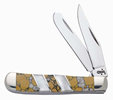 Case 6623 Tiny Trapper Jasper Snow Leopard Knife