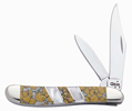 Case 6224 Snow Leopard Peanut Knife Mother Of Pearl