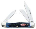 Case Navy Blue Jigged Bone Medium Stockman Knife #CA7049