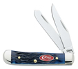Case Navy Blue Jigged Bone Tiny Trapper Knife #CA7055