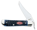 Case Navy Blue Jigged Bone RussLock Knife #CA7057