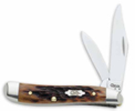 Case Brown Bone Peanut Pocket Knife 8494