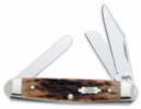 Case Brown Bone Medium Stockman Pocket Knife 8498