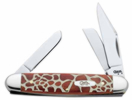 Case 8769 Medium Stockman Giraffe Pattern Knife
