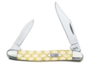 Case 9130 Pen Knife with Yellow Synthetic Handle