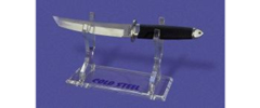 Cold Steel D17G Single Fixed Blade Stand Lucite Construction