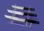Cold Steel 3 level Clear Lucite fixed blade stand model number D17H