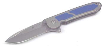 Columbia River Blue Inlay 325 Spear Point Blade M18-02B