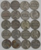 Lot of Twenty(20) 1942-1945 Silver War Nickels