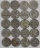 Lot of Twenty(20) 1942-1945 Silver War Nickels