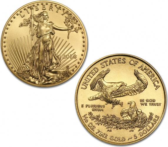 2014 1 10 Oz Gold American Eagle Coin