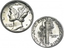 1916-1945 90% Silver Brilliant Uncirculated Mercury Dime