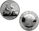 2014 Chinese Silver Panda 1 oz Coin - In Capsule