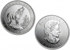 2015 Canadian Silver Grey Wolf 3/4 oz Coin .9999 Fine