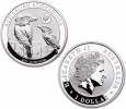 2017 Silver Australian Kookabura 1oz Coin with Rooster Privvy