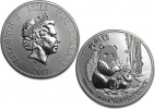 2017 Chinese Silver Panda 1 oz Coin - In Capsule