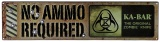 Ka-Bar NO AMMO REQUIRED SIGN - 5701SIGN