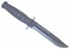 Ka-Bar 1257 Short Black Serrated Knife