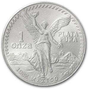 1982 Mexican Silver Libertad 1 oz