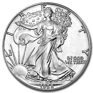 1988 1 oz Silver American Eagle Coin
