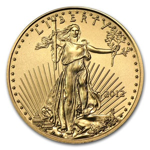2012 1/10 oz Gold American Eagle Coin