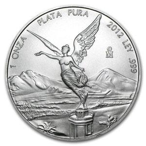 2012 1 oz Silver Mexican Libertad Coin
