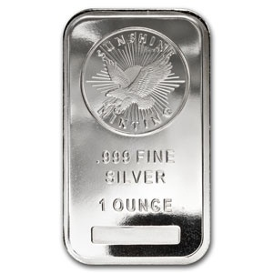 Sunshine Mint 1 oz Silver Bar .999 Fine