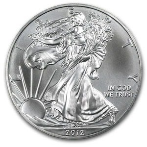 2012 1 Oz Silver American Eagle Coin In Air Tite Capsule