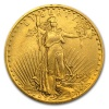 1907 St. Gaudens Gold Double Eagle Coin - Extra Fine