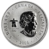 2009 1 oz Silver Canadian Maple Leaf Vancouver Olympics Coin